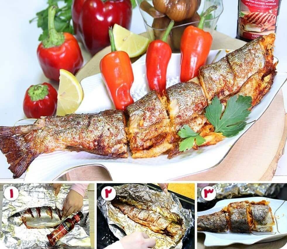 چگونه ماهی را سرخ کنیم که نچسبد؟ + اموزش ماهی درسته در فر