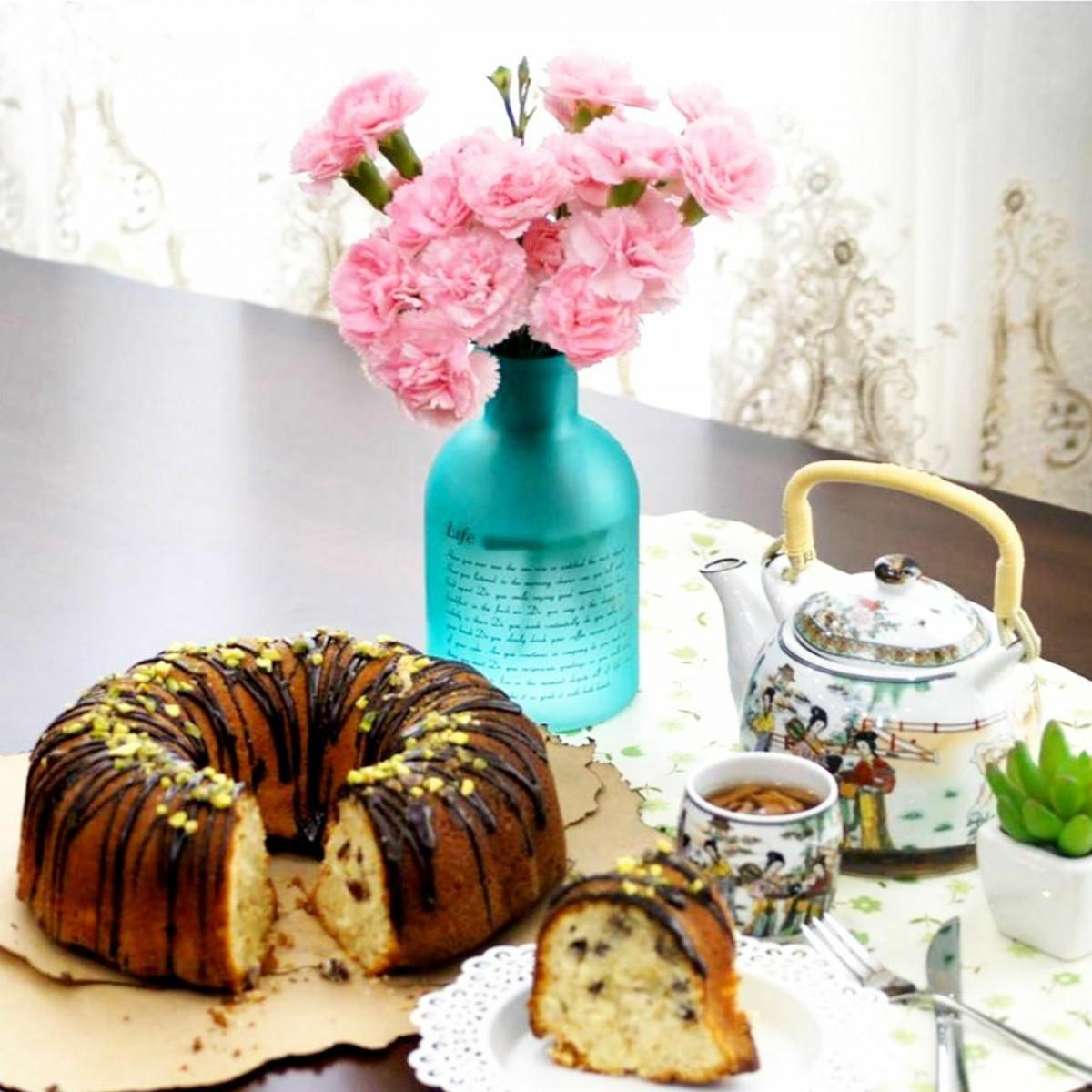طرز تهیه کیک ساده برای 8 نفر با پف زیاد+تصاویر تزیین کیک